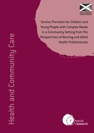 Service Provision for Children & Young People with Complex Needs ...