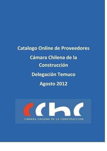 Catálogo Proveedores Temuco Agosto