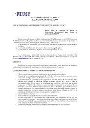 Programa Mobilidade Internacional 2012 - Faculdade de Educação ...