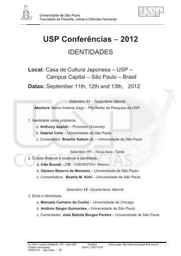 USP Conferências – 2012 - Faculdade de Educação da USP