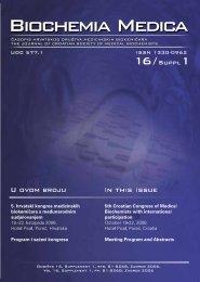 Knjiga Sažetaka AbstractS BOOK - Klinički zavod za kemiju