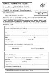 Fichas de inscripción Nivel II (pdf) - Olimpíada Argentina de Biología