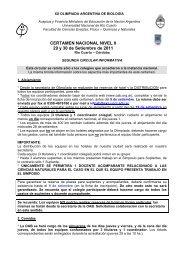 CERTAMEN NACIONAL NIVEL II 29 y 30 de Setiembre de 2011