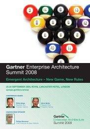 Gartner Enterprise Architecture Summit 2008