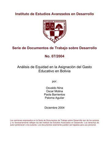 Instituto de Estudios Avanzados en Desarrollo Serie de ... - inesad