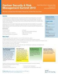 Gartner Security & Risk Management Summit 2010
