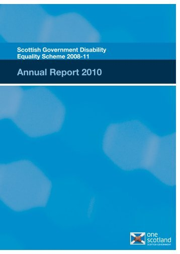 Scottish Government Disability Equality Scheme 2008-11: Annual ...
