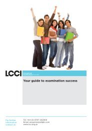 Guide to Examination Success - LCCI International Qualifications