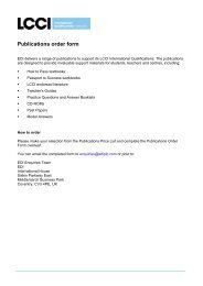 Publications order form - LCCI International Qualifications