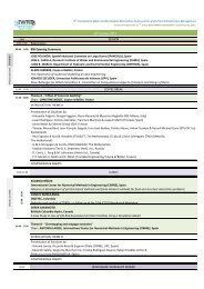 11th ICOLD BW TECHNICAL PROGRAMME - iPresas - UPV