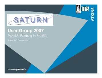User Group 2007 - SATURN SOFTWARE WEB SITE