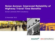 Noise Annoys: Improved Reliability of Highway Travel Time ... - saturn