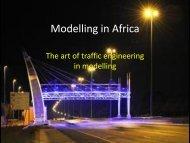 Traffic Modelling in Africa - saturn