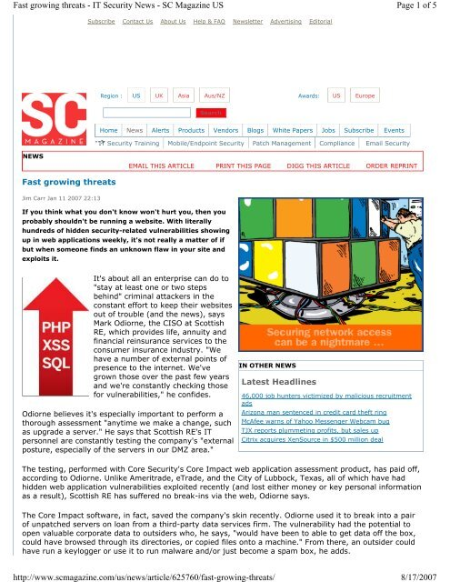 Page 1 Of 5 Fast Growing Threats It Security News Sc Magazine