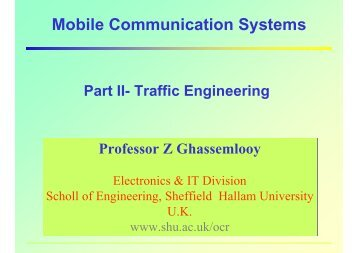 Mobile Communication Systems - Northumbria University
