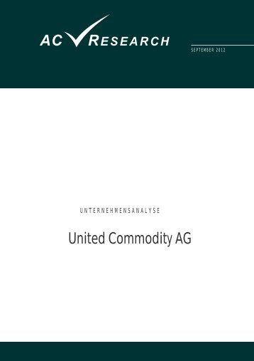 ac research - United Commodity AG