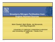 Strawberry Nitrogen Fertilization from Organic Nutrient Sources