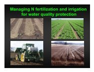 Use of Nutrient Budgets and Field Monitoring for Efficient Vegetable ...