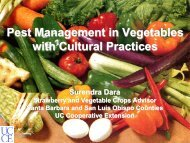 Cultural Practices for Pest and Disease Management in Vegetables