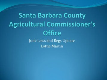 Martin-Laws and Regulations - Santa Barbara County Cooperative ...