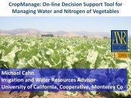 Cahn-Managing Water and Nitrogen of Vegetables - Santa Barbara ...