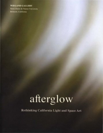 Afterglow: Rethinking California Light and Space Art. - Ratio 3