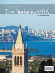 Leading Through Innovation - The Berkeley MBA - University of ...