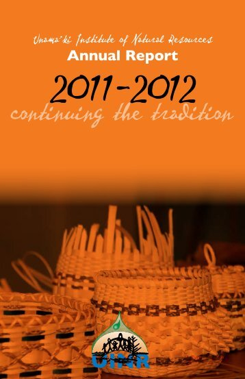 Annual Report - Unama'ki Institute of Natural Resources