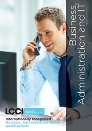 Business Administration (level 1) - LCCI International Qualifications