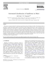 Automated classification of landforms on Mars - Lunar and Planetary ...