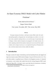 An Open Economy DSGE Model with Labor Market Frictions