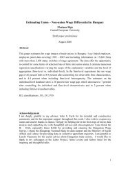 Estimating Union – Non-union Wage Differential in Hungary