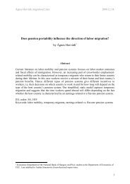 Do differences in security systems matter in labour mobility across ...