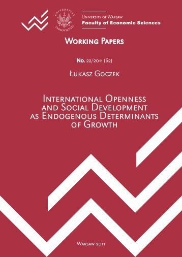International Openness and Social Development as Endogenous ...