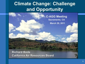 Climate Change: Challenge and Opportunity - C-AGG