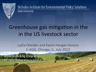 Greenhouse gas mi,ga,on in the in the US livestock sector - C-AGG