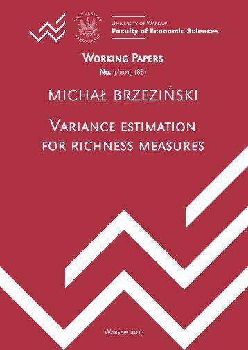 Variance estimation for richness measures