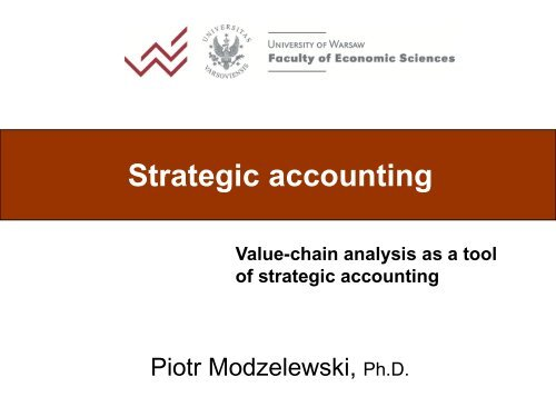 Value-chain analysis as a tool