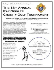 The 18th Annual Ray Geisler Charity Golf Tournament