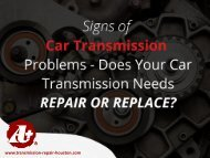 Transmission Shop in Houston – When to Visit!
