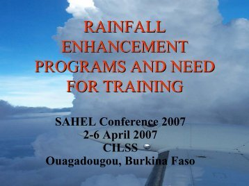 rainfall enhancement programs and need for training - UCAR Africa ...