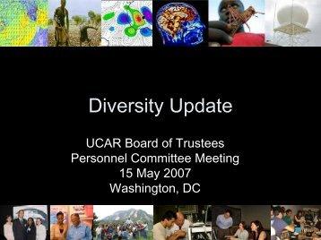 5.15.07 BOTPersonnel Committee- Diversity.pdf - UCAR Africa ...