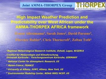 Afiesimama AMMA Thorpex.pdf - UCAR Africa Initiative