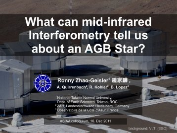 What can mid-infrared Interferometry tell us about an AGB ... - asiaa
