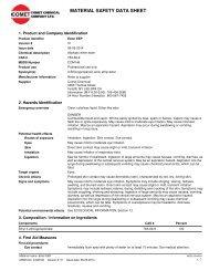 COM146 - ESTER EEP - Comet Chemical Company Ltd.