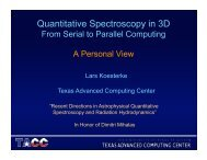 Quantitative Spectroscopy in 3D: From Serial to Parallel Computing