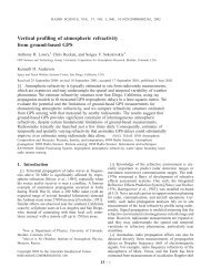 Vertical profiling of atmospheric refractivity from ground-based GPS