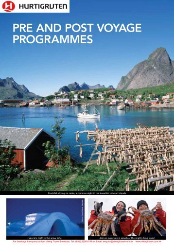 PRE AND POST VOYAGE PROGRAMMES - Viking Travel Solutions