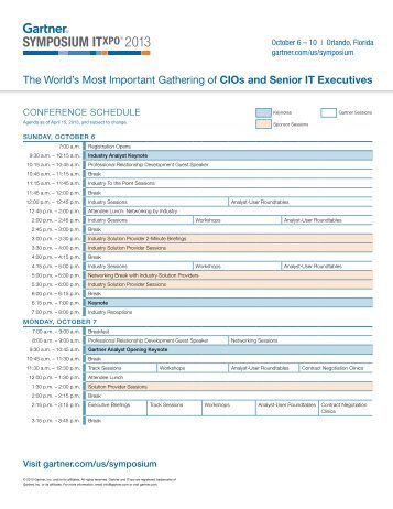 The World's Most Important Gathering of CIOs and Senior IT ...