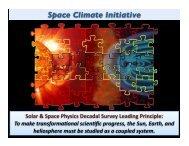 Space Climate Initiative